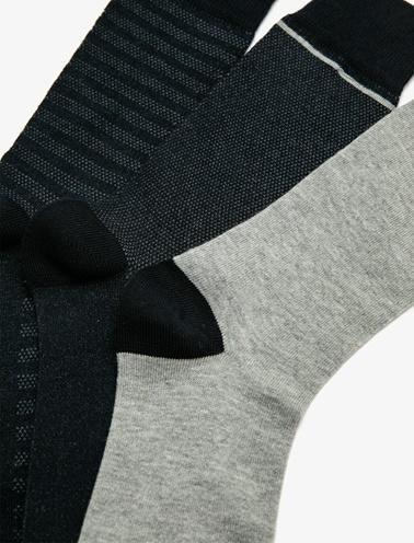 Koton 3'lü Erkek Çorap Lacivert